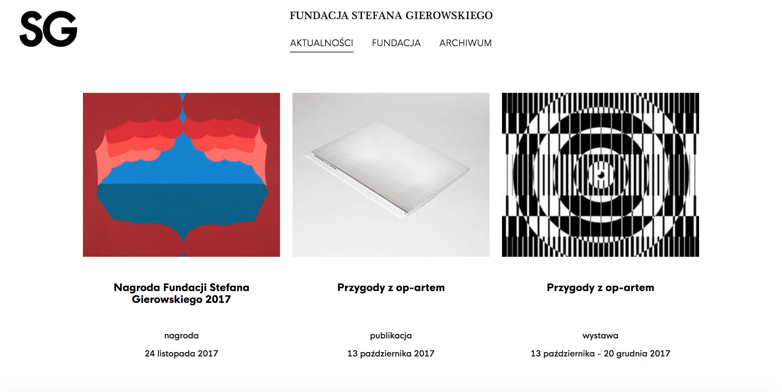 Fundacja Stefana Gierowskiego - strona