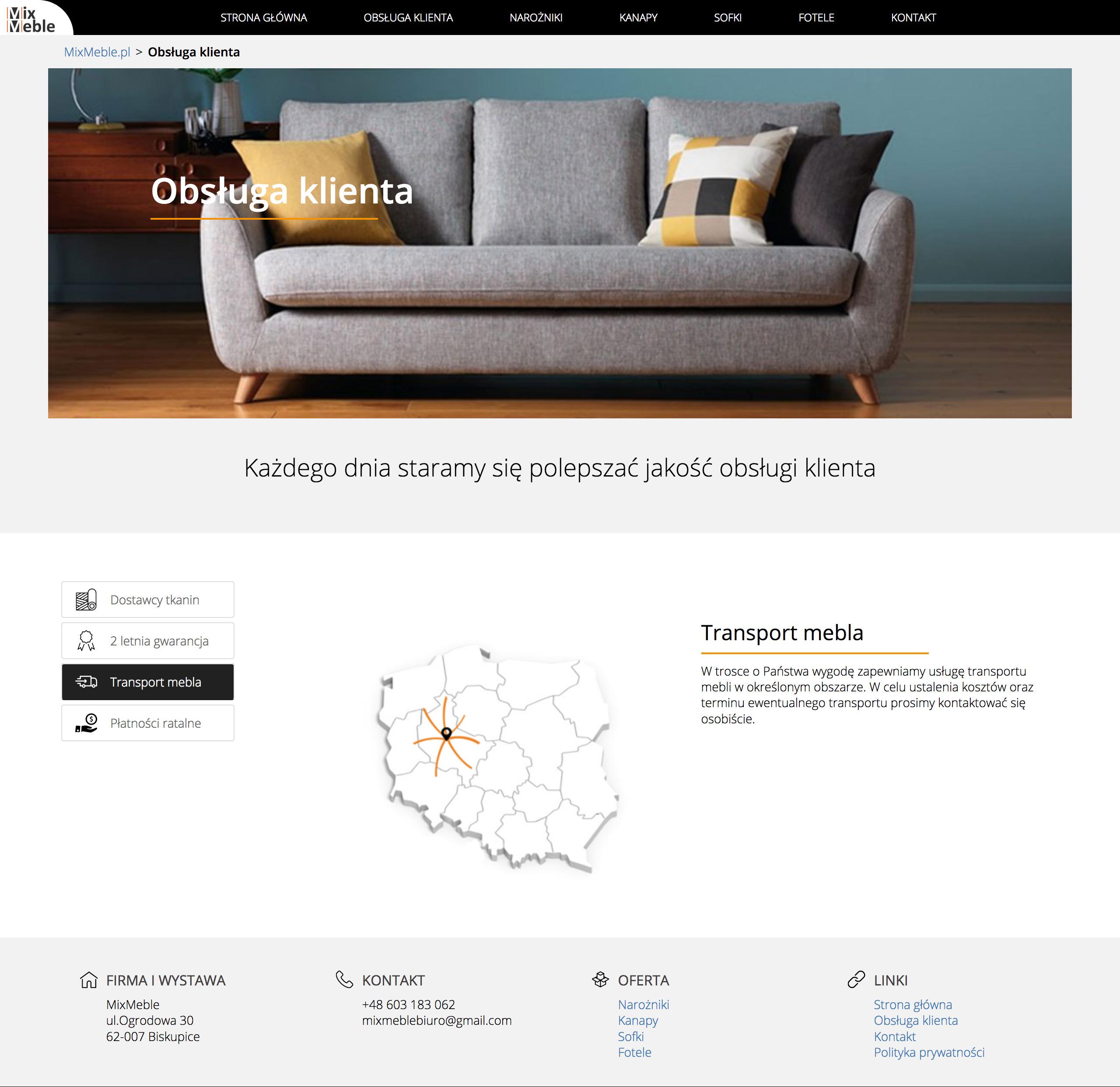 Strona internetowa Mixmeble